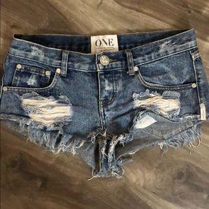 Pants - One Teaspoon TRASH WHORES shorts